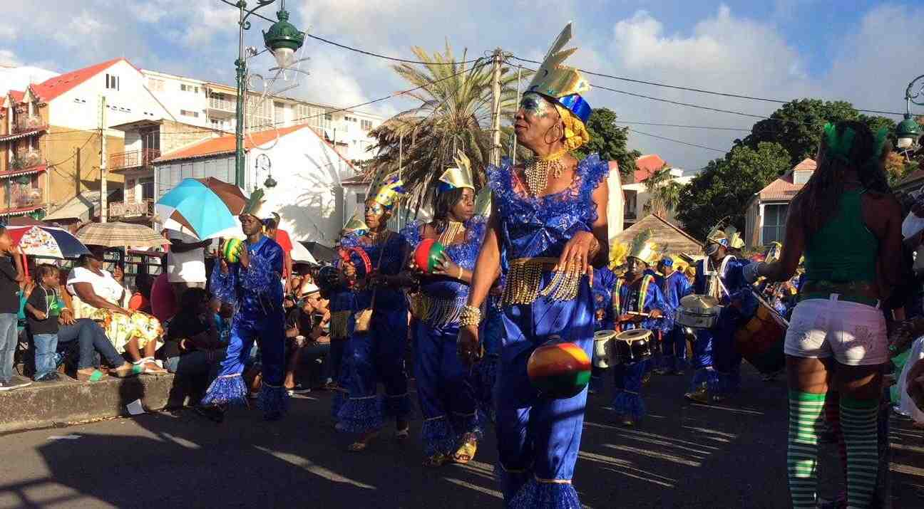 carnaval, basse, terre, guadeloupe